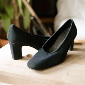 Vintage Granny Chic Fabric Pumps Heels 7